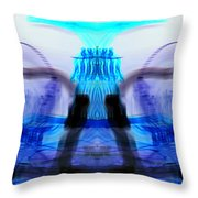 inverted Mirrored Symmetry And Electron Volcano Waves Photography Throw Pillow
