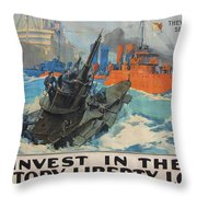 Invest In Victory Throw Pillow