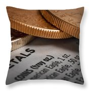Investments Throw Pillow