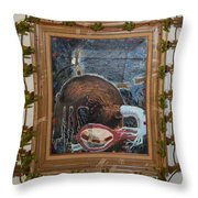 Invidious Tree In Opera Gloves - Framed Throw Pillow