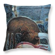 Invidious Tree In Opera Gloves Throw Pillow
