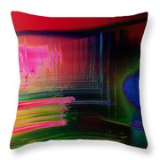 Invisible Collision Throw Pillow