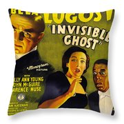 Invisible Ghost Throw Pillow by Monogram Pictures