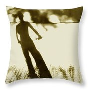 Invisible - Reunion Island - Indian Ocean  Throw Pillow
