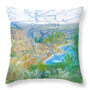Invisible World Over Landscape Throw Pillow