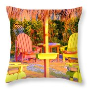 Invitation To Florida Sunset Throw Pillow