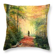 Invitation To Walk   Throw Pillow