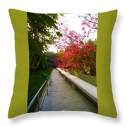 Inviting Garden Alley Throw Pillow