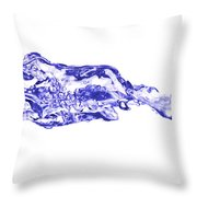 Involutions - Blowing Spray Throw Pillow