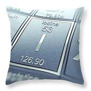Iodine Chemical Element Throw Pillow