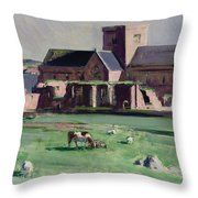 Iona Abbey From The Northwest Throw Pillow