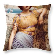 Ionian Dancking Girl Throw Pillow