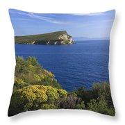 Ionian Sea Coast Albania Throw Pillow