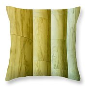 Ionic Architectural Columns Details Throw Pillow