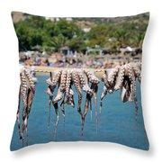 Mylopotas Beach Throw Pillow