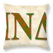 Iota Nu Delta - Parchment Throw Pillow