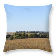 Iowa Fields Throw Pillow