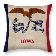 Iowa State Flag Throw Pillow by Pixel Chimp
