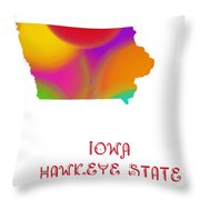 Iowa State Map Collection 2 Throw Pillow