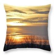 Iowa Sunrise Panorama Throw Pillow