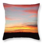 Iowa Sunset Throw Pillow