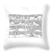 'ip Gissa Gul' Throw Pillow by George Booth