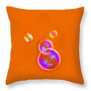 iPhone Case - Orange Bubbles Throw Pillow