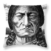 iPhone-Case-Sitting-Bull Throw Pillow