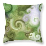 Iphone Green Swirl Abstract Throw Pillow