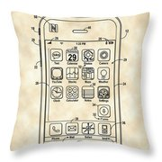iPhone Patent - Vintage Throw Pillow