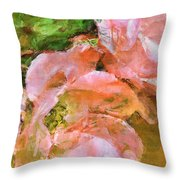 Iphone Pink Rose Digital Paint Throw Pillow