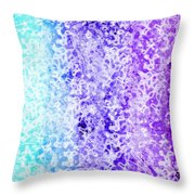 Iphone Purple And Blue Abstract Throw Pillow