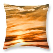 Iphone Sunset Digital Paint Throw Pillow