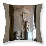 Iran Ancient Umbrella Throw Pillow