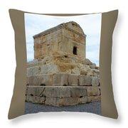 Iran Cyrus Tomb Pasargadae Throw Pillow