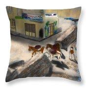 Iran Eatery In Kandovan Throw Pillow