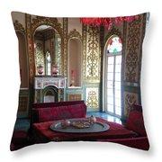 Iran Golestan Palace Interior  Throw Pillow