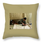 Iran Isfahan Artisan  Throw Pillow