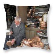Iran Isfahan Copper Artisan Throw Pillow
