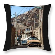 Iran Kandovan Cars And Wires Throw Pillow