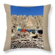 Iran Kandovan Stone Village Laundry Throw Pillow