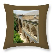 Iran Shiraz Mosque And School Throw Pillow