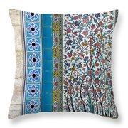 Iran Shiraz Tile And Fountain Throw Pillow