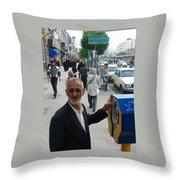 Iran Street Of Mashad Throw Pillow