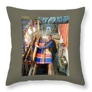 Iran Textile Weaver Throw Pillow