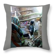 Iran Textiles Cave Isfahan  Throw Pillow