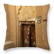 Iran Yazd Door Throw Pillow