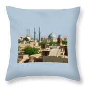 Iran Yazd From The Rooftops  Throw Pillow