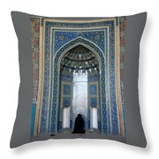 Iran Yazd Mosque Visitor Throw Pillow