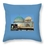 Iran Yazd Old And New Throw Pillow